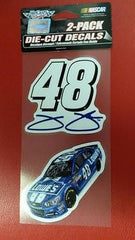 "NASCAR Jimmie Johnson Perfect Cut Decal Set Of Two 4"" x 4"" - Hockey Cards Plus LLC"