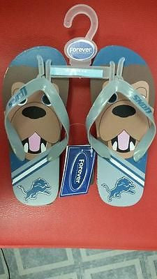 NFL Detroit Lions Licensed Youth Mascot Flip Flop - Hockey Cards Plus LLC  - 1