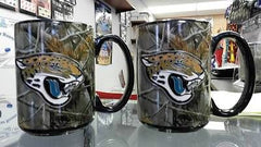NFL Jacksonville Jaguars 2 pc 15oz RealTree Camouflage Coffee Mug with Team Logo - Hockey Cards Plus LLC
