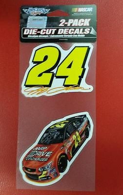 "NASCAR Jeff Gordon Perfect Cut Decal Set Of Two 4"" x 4"""