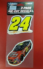 "NASCAR Jeff Gordon Perfect Cut Decal Set Of Two 4"" x 4"" - Hockey Cards Plus LLC"