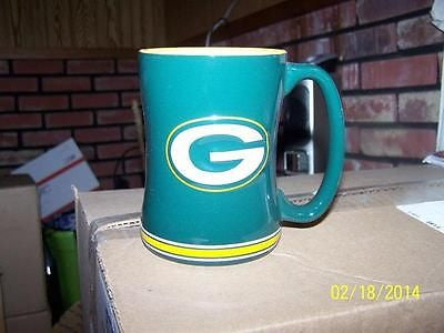 NFL Green Bay Packers 14oz Sculpted Ceramic Relief Mug - Hockey Cards Plus LLC