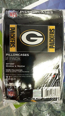 "NFL Green Bay Packers 2Pk Pillowcase Set  20"" X 30"""