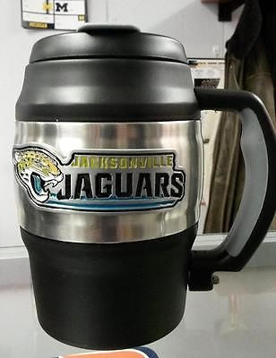 NFL Jacksonville Jaguars Heavy Duty Insulated Coffee Mug Travel Mug Mini Keg - Hockey Cards Plus LLC