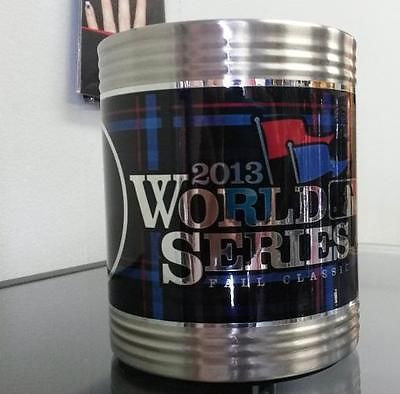 MLB Boston Red Sox World Series 2013 Can Holder with Hi-Def Metallic Graphics - Hockey Cards Plus LLC
