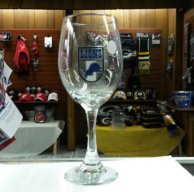 NFL Detroit Lions 14oz Wine Glass with Team Shield