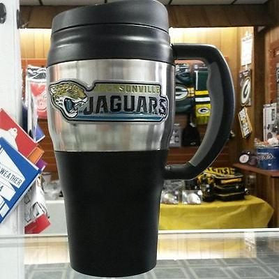 NFL Jacksonville Jaguars Heavy Duty Travel Mug  20oz - Hockey Cards Plus LLC