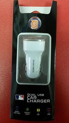 MLB Detroit Tigers Dual Port Car Charger - Hockey Cards Plus LLC
