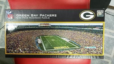 NFL Green Bay Packers Lambeau Field 1000 Piece Panoramic Puzzle - Hockey Cards Plus LLC