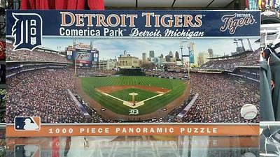 MLB Detroit Tigers Comerica Park 1000 Piece Panoramic Puzzle - Hockey Cards Plus LLC