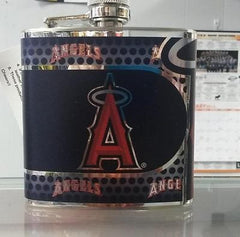 MLB Los Angeles Angels 6oz Stainless Steel Flask with 360 Wrap - Hockey Cards Plus LLC