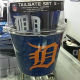 MLB Detroit Tigers Tailgate / Picnic Bucket Set - Hockey Cards Plus LLC