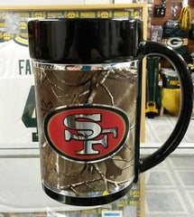 NEW!!! NFL San Francisco 49ers 15oz RealTree Camouflage Mug with Hi-Def Wrap - Hockey Cards Plus LLC  - 1