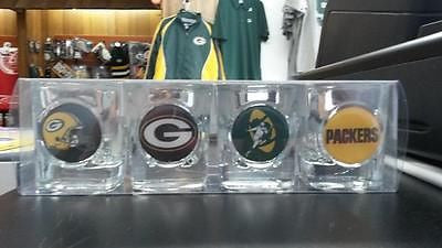 NFL Green Bay Packers 4pc Collector's Shot Glass Set - Hockey Cards Plus LLC