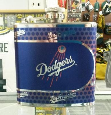 MLB Los Angeles Dodgers 6oz Stainless Steel Flask with 360 Wrap
