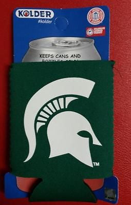 NCAA Michigan State Spartans Green Neoprene Can Holder / Can Coozie - Hockey Cards Plus LLC