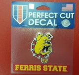 "NCAA Ferris State Bulldogs Perfect Cut Color Decal 4.5"" x 5.75"" - Hockey Cards Plus LLC"