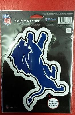 "NFL Detroit Lions Die Cut Logo Magnet 6.25"" x 9"" - Hockey Cards Plus LLC"