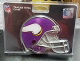 "NFL Minnesota Vikings Metal Helmet Trailer Hitch Cover ( for 2"" hitch ) - Hockey Cards Plus LLC"