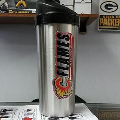 NHL Calgary Flames Protein Shaker / Mixed Drink Shaker - Hockey Cards Plus LLC