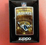 NFL Jacksonville Jaguars Street Chrome Zippo Lighter - Hockey Cards Plus LLC