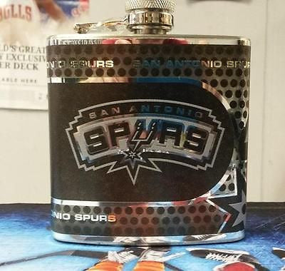 NBA San Antonio Spurs 6oz Stainless Steel Flask with 360 Wrap