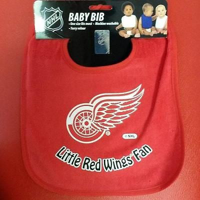 NHL Detroit Red Wings Colored Snap Baby Bib
