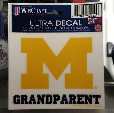 "NCAA Michigan Wolverines - Grandparent - Multi-Use Decal 3"" x 4"""