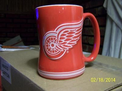NHL Detroit Red Wings 14oz Sculpted Ceramic Relief Mug - Hockey Cards Plus LLC
