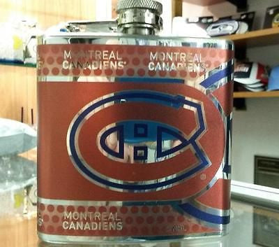 NHL Montreal Canadiens 6 oz Hip Flask with 360 Wrap - Hockey Cards Plus LLC  - 1