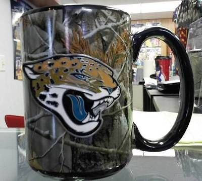 NFL Jacksonville Jaguars 15oz RealTree Camouflage Coffee Mug with Team Logo - Hockey Cards Plus LLC