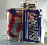 NFL New York Giants 6oz Stainless Steel Flask with 360 Wrap - Hockey Cards Plus LLC  - 2