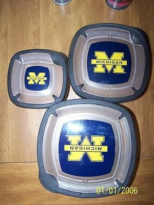 NCAA Michigan Wolverines Square Plastic Food Storage Containers - Hockey Cards Plus LLC