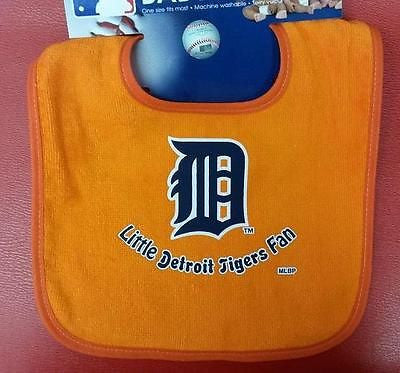 MLB Detroit Tigers Colored Snap Baby Bib