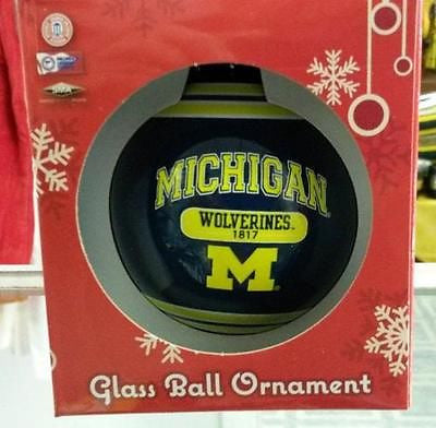 NCAA Michigan Wolverines 2014 Plaque Ball Ornament