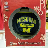 NCAA Michigan Wolverines 2014 Plaque Ball Ornament - Hockey Cards Plus LLC