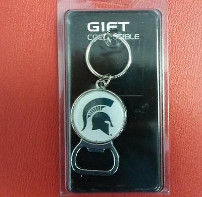NCAA Michigan State Spartans Bottle Opener Keychain - Hockey Cards Plus LLC