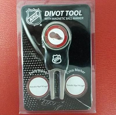 NHL Detroit Red Wings Golf Divot Tool Pack with 3 Ball Markers - Hockey Cards Plus LLC