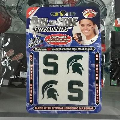 NCAA Michigan State Spartans 4 pc Skin Tattoos