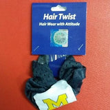NCAA Michigan Wolverines Hair Twist / Ponytail Holder - Hockey Cards Plus LLC