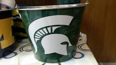 NCAA Michigan State Spartans 5 Quart Metal Ice Bucket - Hockey Cards Plus LLC