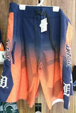 MLB Licensed Detroit Tigers Gradient Board Shorts / Swimsuit - Hockey Cards Plus LLC  - 1
