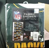NFL Green Bay Packers Shower Curtain with Rings - Hockey Cards Plus LLC