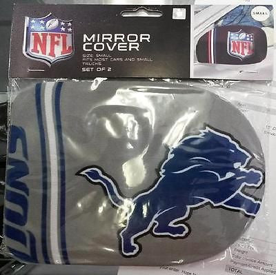 NFL Detroit Lions Rearview Mirror Covers (2pk) Small --Fits Cars and Small Truck - Hockey Cards Plus LLC