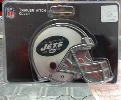 "NFL New York Jets Metal Helmet Trailer Hitch Cover ( for 2"" hitch ) - Hockey Cards Plus LLC"