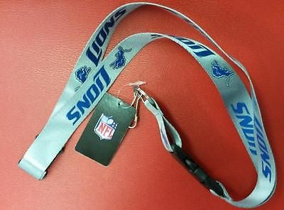 "NFL Detroit Lions 24"" Grey Break Away Lanyard - Hockey Cards Plus LLC"