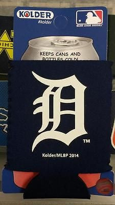 MLB Detroit Tigers Blue Neoprene Can Holder / Can Coozie - Hockey Cards Plus LLC