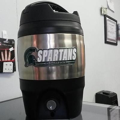 NCAA Michigan State Spartans Heavy Duty 1 Gallon Tailgate Jug - Hockey Cards Plus LLC