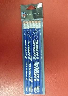 NFL Detroit Lions 6 Pack Pencil Set - Hockey Cards Plus LLC