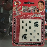 NCAA Michigan State Spartans Face & Fingernail Tattoos - Hockey Cards Plus LLC